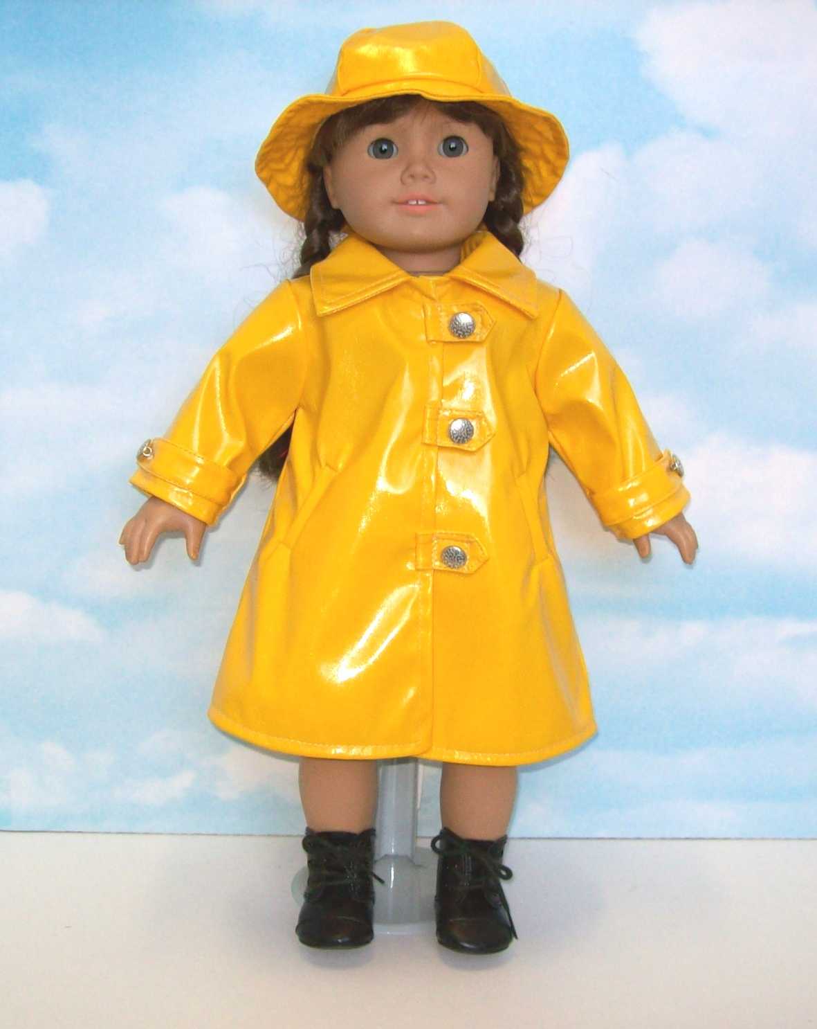 Yellow raincoat for Children/ Kids. Free shipping